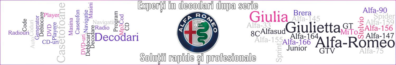 experti decodari casetofoane navigtii auto Alfa Romeo