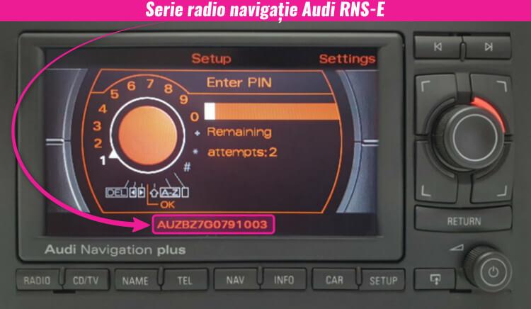 serie pe ecran decodare navigatie audi
