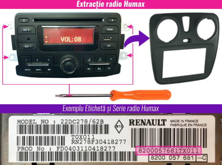 extragerea decodare radio casetofon humax