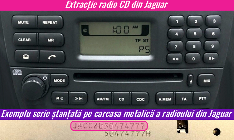 extragerea decodare radio cd jaguar
