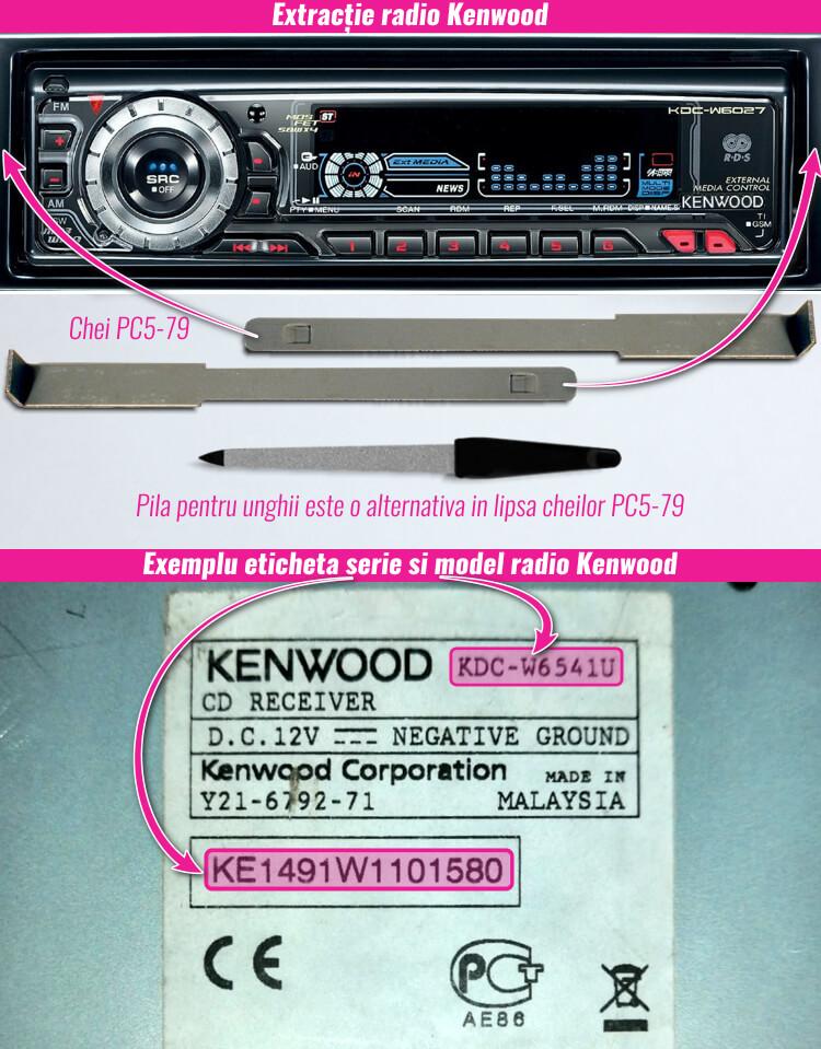 extragerea si decodare radio casetofon kenwood