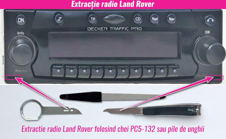 extragerea decodare radio casetofon land rover