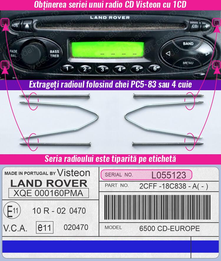 cod radio cd land rover visteon