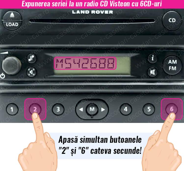 cod radio 6 cd player land rover visteon
