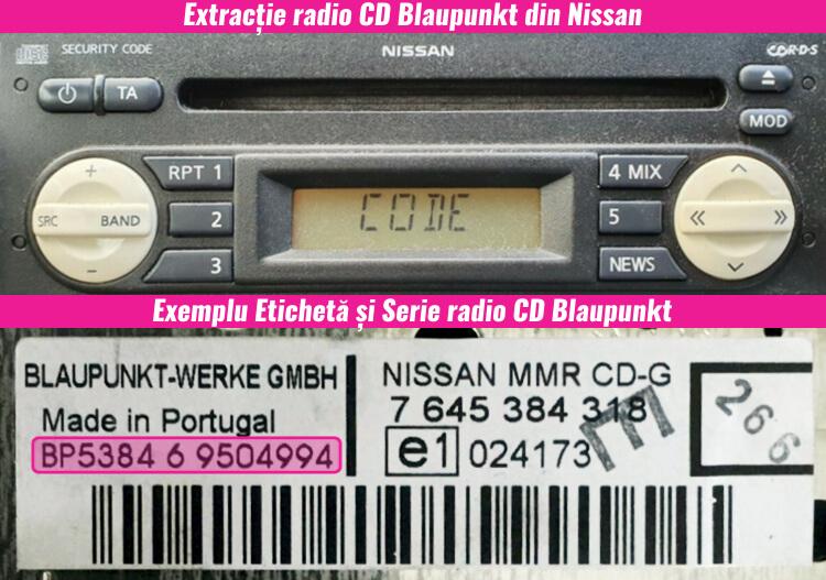decodari radio cd casetofoane nissan blaupunkt
