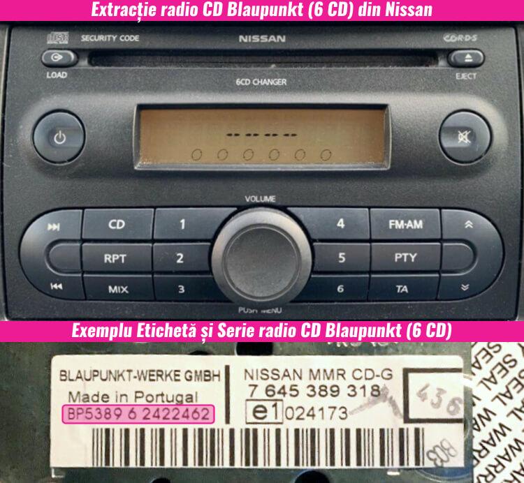 decodari magazie cd casetofoane nissan blaupunkt