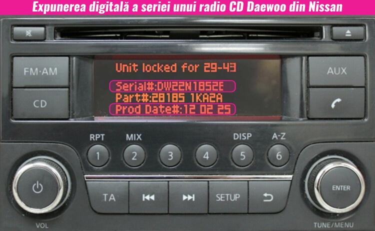 decodari radio cd casetofoane nissan daewoo