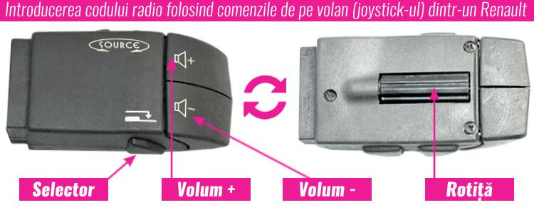 introducere cod comenzi pe volan joystick