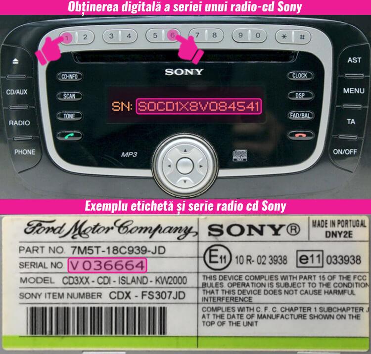 decodari radio cd casetofoane sony
